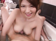 Gorgeous Azusa Akane fingered in a batch tub.