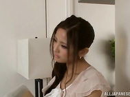 Helpful Japanese female teacher Maika Kawanami pleases a horny guy.