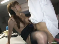 Horny babe is on another level as her wet pussy is being nailed deep.
