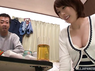 Horny milf gets fucked by a crazy sales manager in her house.