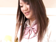 Horny teen girl Nana Usami plays with cock and takes it in mouthYoung schoolgirl Nana Usami feels hot and begins to play with cock of her boyfriend.