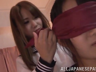 Hot Japanese babes craving for a hot lesbian oral together.