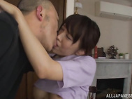 Steaming Japanese housewife Shizuku Memori gets seduced by a horny guy who likes her amazing bubble ass looking very hot in her white skirt.
