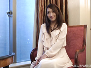 Sweet Japanese amateur, Kotomi Asakura, is in for a quick porn show, posing and teasing her partner in really sleazy manners before letting him enjoy her pussy, fingering and smacking it with toys, before this greedy gal swallows his cock in a hot blowjob