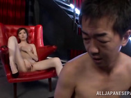 Ai Haneda, Japanese milf with small tits, is about to go wild on this fat dick during hardciore action but not before teasing the guy with mind blowing pussy solo stimulation.
