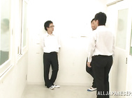 Japanese schoolgirl, Aimi Usui, receives a harsh fuck.