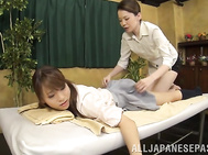 Japanese schoolgirl receives more than just massage.