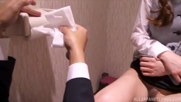 Horny Japanese receptionist, Kaede Fuyutsuki, is horny all the time and working at a hotel she gets the chance of having a lot of guys banging her needy cunt.
