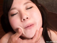 The guys squeeze her outstanding big boobs and give the sweetheart hardcore head fuck, getting their hard boners sucked well and delivering hot cum loads into her horny mouth.