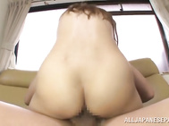 She also licks ass of her lover, and of course, rides his cock extremely hard.