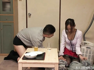 Horny Japanese milf thinks only about sex, and her horny lover likes to fuck her juicy pussy hole.
