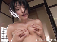 Amazing Japanese beauty with slim forms and two adorable perky tits, Miku Abeno, is ready to play nasty with this guy in excellent hardcore adventure caught on cam.