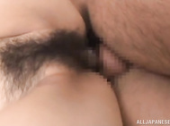 She bursts it open and lets him shove his deep inside her.