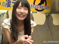 Mischievous teen girl with tiny tits Tsubomi enjoys cock in mouth. 2