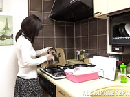 Charming Japanese housewife Ryouko Murakami invited her handsome boyfriend to visit her while her hubby is away.