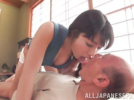 Lovely Japanese milf Miki Sunohara wants to give her mature lover real sexual pleasure.