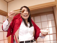 Naughty office milf Asuka seduces her office colleagues.