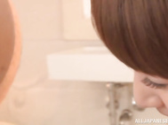 Gorgeous Japanese redhead sweetie Minami Hatsukawa gives her horny boyfriend a really perfect stimulation sitting with him in a bathtub.
