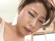 This time Miki Shibuya gets to suck cock like a true goddess, making the guy moan of pleasure, and have sex with him until exhaustion in raw Japanese hardcore porn action.