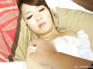 Sexy babe Eri Hosaka enjoys a good sex.