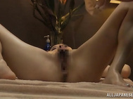 She relaxes on a table and enjoys some cosmetic procedures, and then a horny masseur comes up and oils her sexy body before massaging it, and gets really wild when he sees such a beauty.