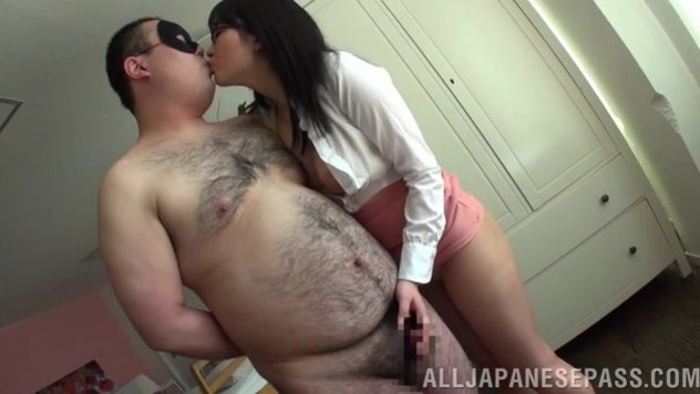 The horny vixen curves around her handsome lover, showing off her goodies and craving for sex.