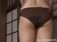 Sexy Kitsu takes off her lingerie ready for a wild fuck.