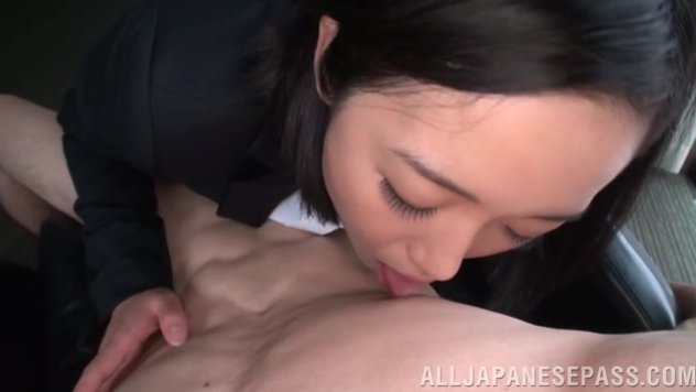 Crazy Japanese female teacher Chihiro Sano is practicing some cock sucking, and she is doing it on amateur Asian porn camera.