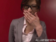 Shameless Japanese teacher Ichika Kamihata gets massive bukkake.