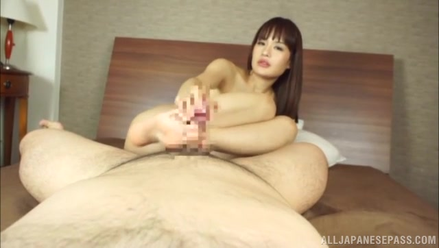Talented Japanese seductress Anju shows off her perfect cock teasing skills and pleases her horny boyfriend with her hands, lips and feet.
