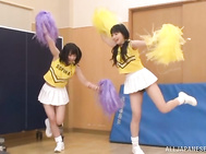 Spicy cheerleader Yuri Shinomiya group sex.
