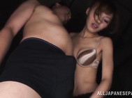 Spicy JP MILF Aino Kishi rides and sucks a dick for sperm.