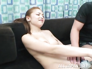 She enjoys the process of being seduced by two horny guys, and accepts their invitation for hardcore threesome sex.