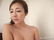 Yummy Japanese AV babe Minore Hasune looks so sexy in her fashionable lingerie.