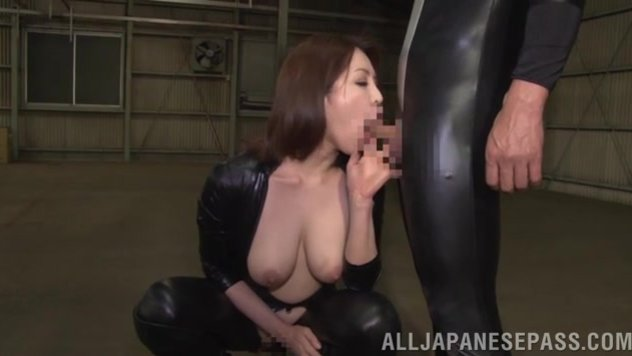 Watch sleazy Japanese milf in sexy costume cock sucking like a true goddess before spreading her legs and having their dicks deep inside her cramped Asian holes.