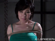 Strong Asian bondage with Narumi Takasaki.
