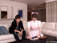 Sugary Japanese AV girl Tsubasa Amami has pleasure of cock.