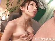 Alluring Japanese mature seductress Ayumi Shinoda with big amazing tits shows off in front of her lover, curving in ecstasy and masturbating her pussy.