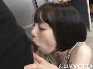 Suzumura Airi is a lovely Asian milf, but an amateur at cheating when she meets up with this horny guy! She is a lovely gal and gives him a hot blowjob that gives her a load of cum on her face before he gets to finger her wet hole and gives her a rear fuc