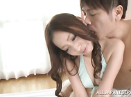 Sweet JP teen babe in bikini Yuria Mano gets her pussy fingered and plowed.