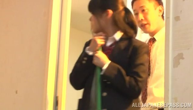 Young Ayase Kunimi gets nasty with her teacher.