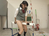 Sleazy Japanese schoolgirl with appealing form and naughty skills in posing sexy on porn cam, Ayase Kunimi, needs better grades from this horny teacher and the only way to convince the guy is by sucking his dick and letting it deep slide down her cramped
