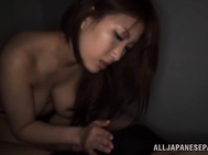 Superb Japanese milf Yumi Mizuki enjoys a great load of cum on her big boobs after having a wild tit fuck session with a horny guy.