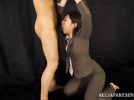 Impressive Japanese beauty Yuna Shiratori is a true pro when it comes to sucking cock.