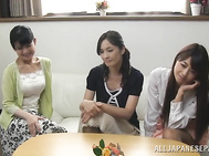 Alluring Japanese AV Model is a mature hottie sucking young cock.