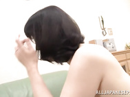 Then she sits on his face, getting her hairy pussy licked, and then they proceed oral stimulation in 69.
