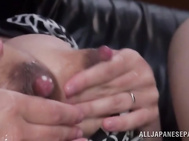 As she gets two masked guys for her threesome hardcore fun, she sucks both of their cocks and gets fucked hard.