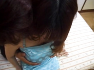 Busty Asian mature fucked babe hard and jizzed on tits.