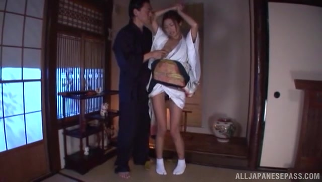 Naughty Japanese milf Akari Asahina has an amazing juicy body with fantastic bubble tits.