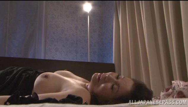 Busty mature loves teasing him before having his long dick pounding her so hard.